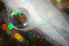 Color blurs and disco lights stock image