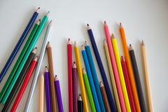 color blyertspennan Arkivbilder