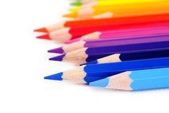 color blyertspennan arkivfoton
