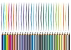 color blyertspennan Royaltyfria Bilder