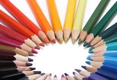 color blyertspennan Arkivbild