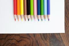 color blyertspennan Fotografering för Bildbyråer