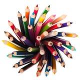 color blyertspennaseten Royaltyfria Bilder