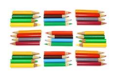 color blyertspennor Arkivfoton