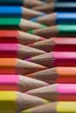 color blyertspennor Royaltyfri Foto