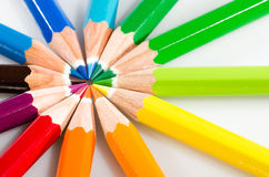 Color blyertspennor Fotografering för Bildbyråer