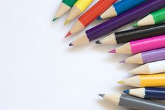 color blyertspennor Royaltyfri Bild