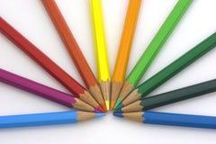 color blyertspennor Arkivbilder