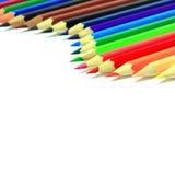 color blyertspennor olika Royaltyfri Fotografi