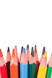 color blyertspennor trekantiga Royaltyfri Bild