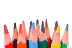 color blyertspennor trekantiga Arkivfoto