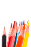 color blyertspennor trekantiga Royaltyfri Foto