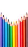 color blyertspennor trekantiga Royaltyfria Foton