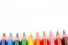 color blyertspennor trekantiga Royaltyfria Bilder