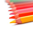 color blyertspennor trekantiga Arkivbilder