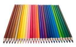 color blyertspennor vita Fotografering för Bildbyråer
