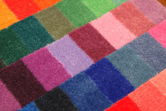Color board of carpet samples. Can serve as background Royalty Free Stock Photography