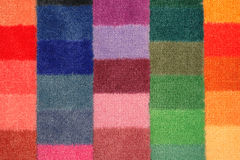 Color board of carpet samples. Color range of carpet samples can serve as background Royalty Free Stock Photography