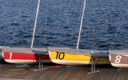 Color boats Stock Photos