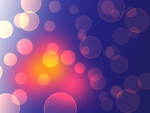 Color Bokeh against a dark background for use at graphic design Royalty Free Stock Photo