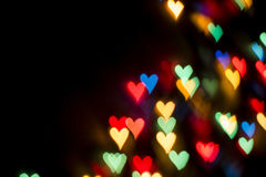 Color Bokeh Heart Royalty Free Stock Images