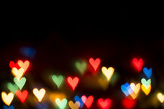 Color Bokeh Heart Royalty Free Stock Image