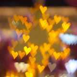 Color Bokeh Heart Stock Image