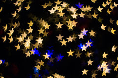 Color Bokeh star shape Royalty Free Stock Image