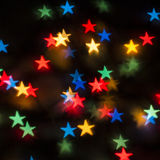 Color Bokeh stars Stock Photos