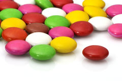 Color bonbons. On white background stock image
