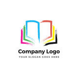 Color Book logo. Minimal illustration for a color book that can be used for logo or as isolated graphic element Royalty Free Stock Photos