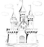 Color book palace fairy tale. Castle Stock Photo