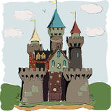Color book palace fairy tale Stock Photography