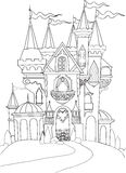 Color book palace fairy tale Stock Photos