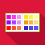 Color booklet icon, flat style Royalty Free Stock Photography