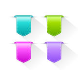 Color bookmarks ribbons set Stock Photos