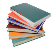 Color books. Stack of color books isolated stock photography