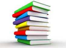 Color Books. Alotof Color Books with white background Royalty Free Stock Photo