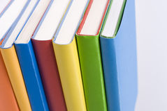 Color books. Multicolored books, view from the top Stock Photography
