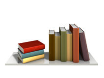 Color Books. With blank covers standing on the wall bookshelf Stock Images