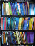 The color books. The books in a bookstore royalty free stock photography