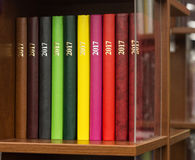 Color books with inscription 2017 Stock Photography