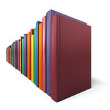 Color books in line Stock Image