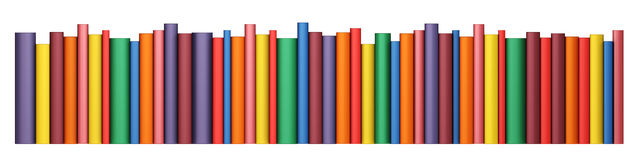 Color books in line Royalty Free Stock Photography