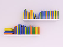 Color books on the shelf Royalty Free Stock Images