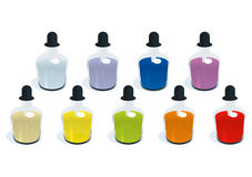Color Bottle. Cool color bottle vector drawing Stock Photo