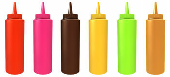 Color bottles Royalty Free Stock Photography