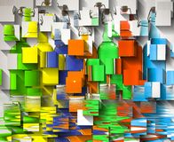 Color Bottles. Geometric Abstract royalty free stock photo