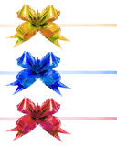 Color bow decorative Royalty Free Stock Photography