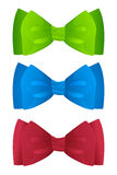 Color bow ties Royalty Free Stock Photography